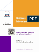 1o Ano - Metodologia y Tecnicas de La Investigacion I