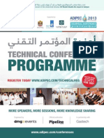 Adipec 2013 Technical Conference Programme 03102013