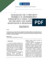 AVALIAÇÃO DE CONFORTO TÉRMICO E DESEMPENHO ENERGÉTICO