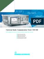 Rohde_Schwarz CMU200 Data Sheet