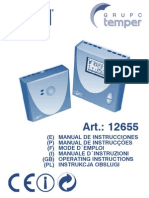 Manual Termostato Coati 12655_esp