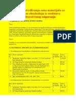 Pravilnik o utvrđivanju cena materijala za dijalize