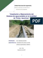 Ampliacion Mejoram Sistema Agua Potable Apurimac