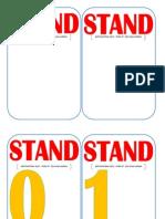 Etiquetas NUMERO Stand