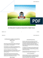 Educator's Guide to Eweclid Math Facts V2