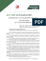 Lei nº 12.007, de 29 de julho de 2009