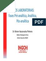 5419Aula de Erros Laboratoriais Dr Kleiner Vasconcelos Pinheiro