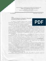 Raspuns MAI cu privire la OMAI S/214/2011 si la sporul pentru confidentialitate