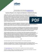 IAReaction-JointStatement-FoodSecurity - 7-10-09