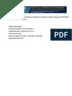 Raport de Practica Primaria Suceava