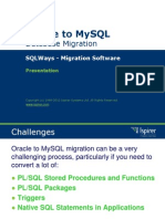 Sqlways Oracle to Mysql Migration