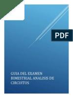 Guia Del Examen Bimestral Analisis de Circuitos 2014-1