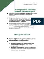OMOGENATE CELULARE ȘI CENTRIFUGAREA - CITOLOGIE ANIMALĂ, LP NR. 1, BIOLOGIE, ANUL I, GRUPA II.pdf