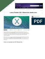 Cómo instalar OS X Mavericks desde cero