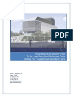 Lower Venice Island Performance Center - Strategic Plan Interim Report