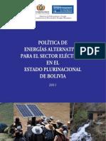 Politica de Energía Alternativa en Bolivia