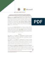 Convenio entre GCPS y Microsoft