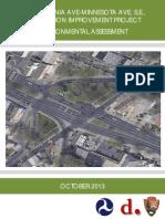 Pennsylvania Ave-Minnesota Ave, SE, Intersection Improvement Project Environmental Assessment