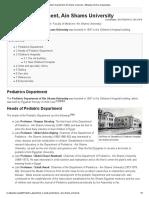 Pediatric Department, Ain Shams University - Wikipedia, the free encyclopedia.pdf