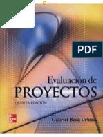 Evaluación de Proyectos - 5ta Edición - Gabriel Baca Urbina - FL