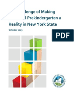 The Challenge of Making Universal Prekindergarten a Reality in New York State