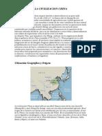La Civilizacion China