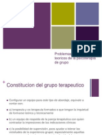 Problemas y aspectos teoricos de la psicoterapia de grupo
