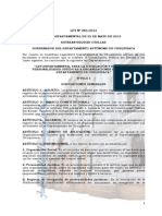 086 Ley de Personerias Juridicas