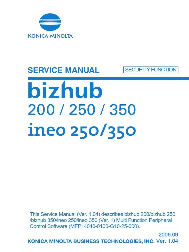 service manual bizhub c250 flash memory computer network rh scribd com bizhub 250 field service manual bizhub 250 service manual pdf