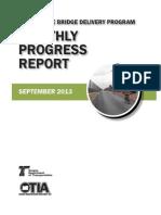 OTIA III State Bridge Delivery Program Monthly Progress Report