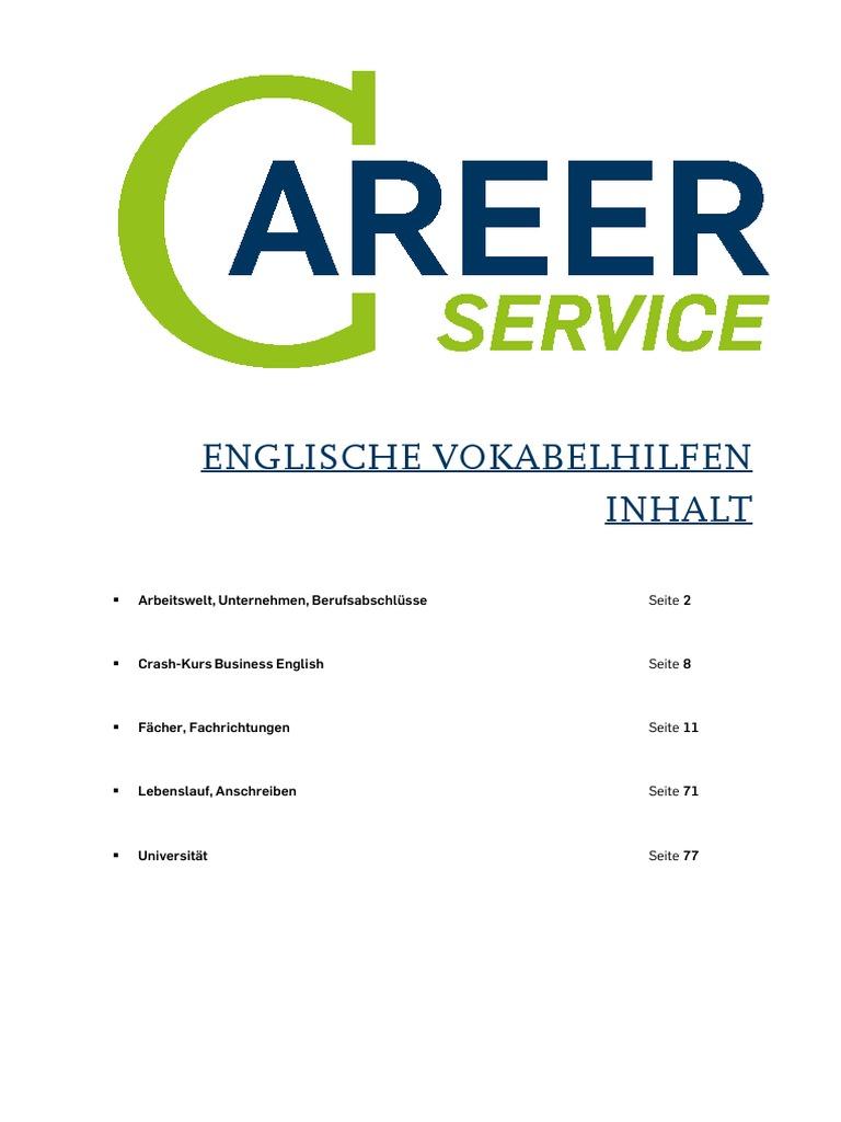 Englische Vokabelhilfen | Human Resource Management | Engineering