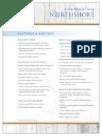 Northshore Condos Feature Sheet