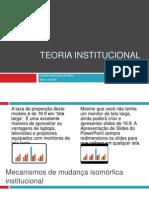 SEMINÁRIO TEORIA INSTITUCIONAL