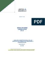 SIL 27 Analisis Constitucional de Las Principales Normas de Urbanismo y Construccion FHolmes Juli