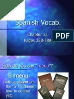 Vocabulario Restaurante