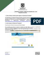 Preguntas Frecuentes Proceso de Traslados 2012-2013