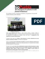 23-10-2013 Sexenio Puebla - Moreno Valle Inaugura La Planta Textil Seamless Global Solutions