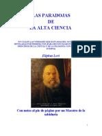 Levi Eliphas - Las Paradojas de La Alta Ciencia