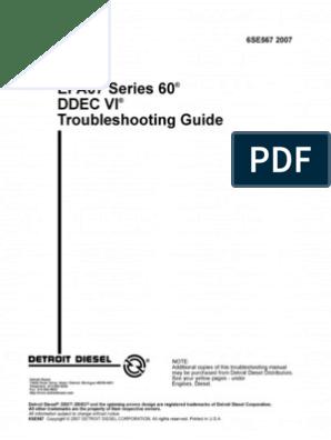 Detroit Diesel Serie 60 DDEC VI | Fuel Injection | Throttle