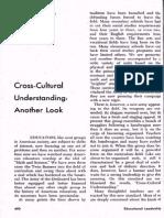 Cross cultural understanding Another Look