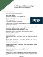 Programa Seminario Filosofía en Chile. Agosto