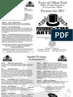 Performing Arts Schedule