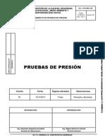 POG.MEC.003 Procedimiento Pruebas de Presión