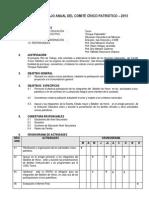 PLAN  DE TRABAJO ANUAL DEL COMITÉ CÍVICO PATRIÓTICO-2013
