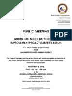 USACE and SMCHD Public Meeting - Nov 8 2013