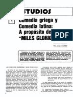 Comedia Latin y Comedia Griega. Revista