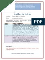 Matriz análisis de videos Transmetro
