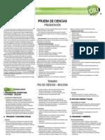 Contenidos PSU Ciencias2011