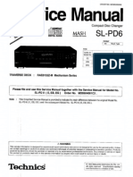 Technics SL-PD6 Service Manual