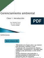 Gerenciamiento Ambiental Clase 1